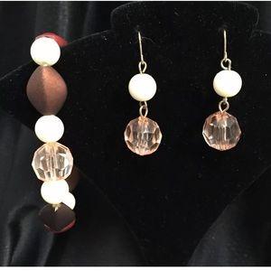 Fashion Stretch Bracelet Earrings Matching Set